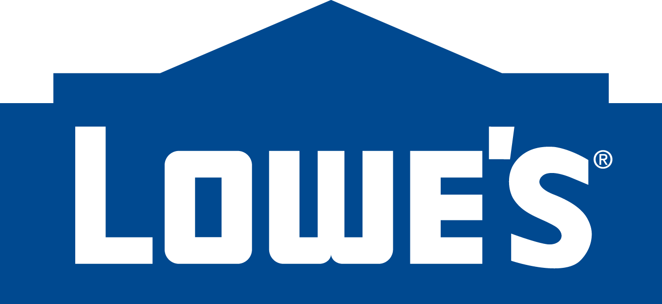 lowe's logo of blue building, an aq contracting partner