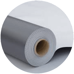 roll of TPO roofing material for custom roof design